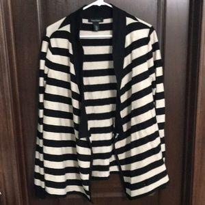 White House Black Market Striped Cardigan